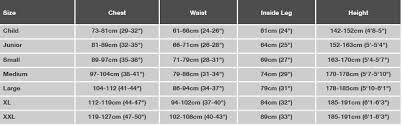Peak Uk Size Chart Cags Spraytops Dry Suits