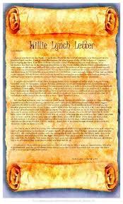 william lynch letter willie lynch letter no record of 1712 speech nuwla