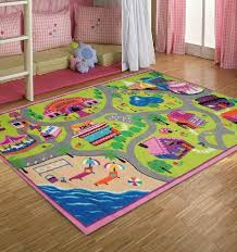 Canvas Of Colorful Design Of Kids Rug For Small Room Interior