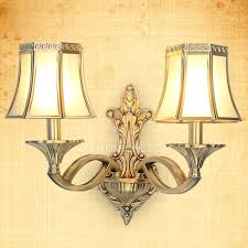 shabby chic wall sconce lighting 2 light bronze material luxury style modern wall sconces lighting