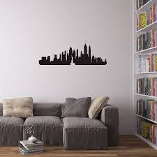 new york city skyline wall art decal on new york city skyline wall art with new york city skyline wall art decal by vinyl revolution
