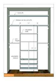 minimum closet depth walk in width typical dimensions shelf splendid standard