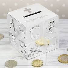 image is loading pre personalised silver plated abc money box birthday