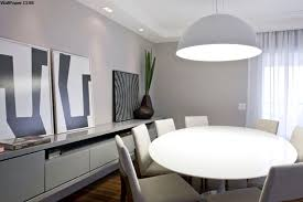 good looking minimalist dining room ideas for apartments with white modern white round dining table