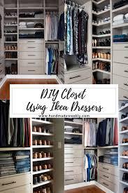 diy closet with ikea dressers