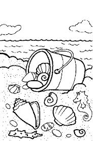 Thema Water En Zand Schelpen Home Schooling Beach Coloring