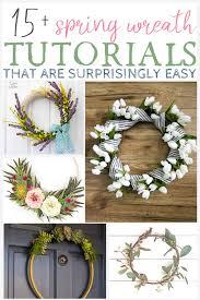 diy spring wreath tutorials that are surprisingly easy