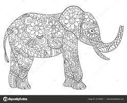 Kleurplaten Mandala Olifant