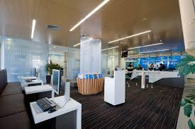 bank and office interiors. commercial interiors anz bank manukau and office