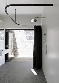 open shower by tribe studio architects via desire to inspire