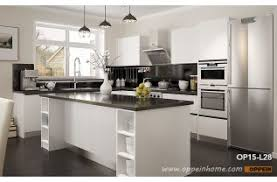 modern kitchens. Modern Open White Lacquer Kitchen Cabinet OP15-L28 Kitchens
