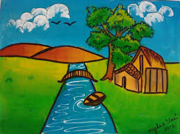 poster color nature painting meghna unni