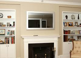 mirror tv. tv mirror over fireplace, tv, hidden television tv