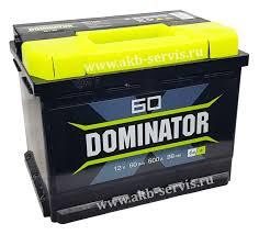 Заказать Аккумулятор <b>DOMINATOR</b> (<b>Доминатор</b>) <b>60Ач</b> п/п 600А в ...