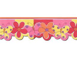 Flower Wall Paper Border Butterfly Flower Wallpaper Border Jfm2802db
