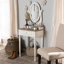 Anjou Traditional French Accent Dressing Table with Mirror - Free Shipping  Today - Overstock.com - 16980821