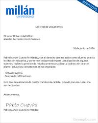 Formato De Carta De Solicitud Ejemplos De Solicitud De Documentos