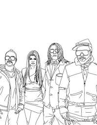 Celebrity Coloring Pages Beautiful The Black Eyed Peas Coloring Page