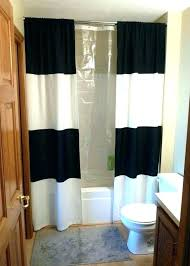 gray striped shower curtain horizontal stripe shower curtains gray and white striped shower curtain 3 black