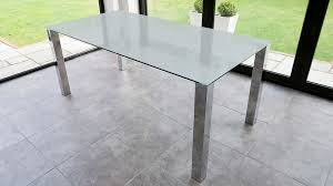 rectangular frosted glass dining table chrome legs seats 4 6 people regarding ideas