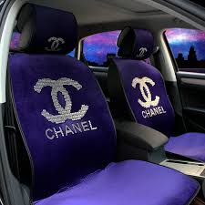 more images code 0002069803112016qty 6 name luxury diamond chanel universal automobile velvet car seat cover cushion 10pcs sets purple