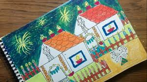 How To Draw Diwali Festival Drawing For Kids