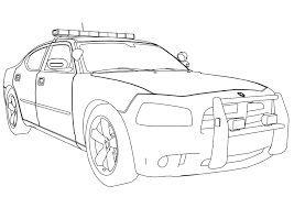 Cop Car Coloring Pages Beautiful Police With Regard To 13