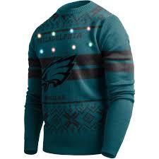 Philadelphia Eagles Sweater With Lights Details About Led Light Up Xmas Knit Pullover Nfl Philadelphia Eagles