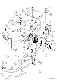 2000 2005 carryall 1, 2 & 6 by club car club car parts & accessories Gas Club Car Wiring Diagram Engine2005 electrical component box gasoline turf carryall 1 vehicles