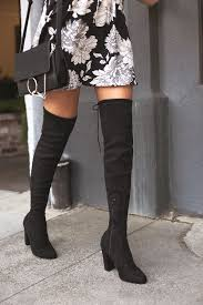 Chic Black Suede Boots - Black <b>Over the Knee Boots</b> - OTK Boots