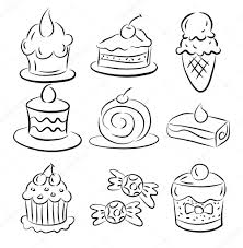 depositphotos_8035545 stock illustration sketch cake element fakebook template pinterest,template free download card designs on 30 day notice to landlord template word