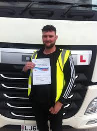 Tom Fields from Sheffield PASSED HGV CLASS 1 - Peter Smythe Transport  Training