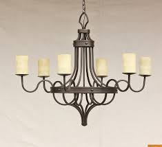1076 6 contemporary spanish style wrought iron chandelier