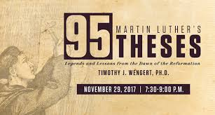 martin luther s theses breen chair in catholic systematic  martin luther s 95 theses