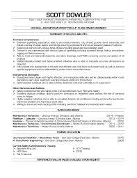 Dowler Scott Pipefitter Resume