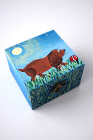 Memory Box Decorating Ideas Dog keepsake box Dog lover gift animal lovers gift dog box pet 30