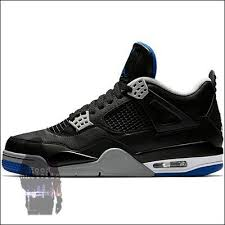 jordan 4 retro. air jordan 4 retro motorsport away black / game royal-matte silver 308497-006