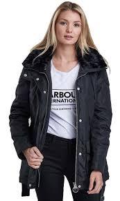 barbour womens outlaw waterproof jacket black lwb0204bk11 red rae town country