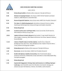Sample Research Agenda 100 Research Agenda Templates Free Sample Example Format Free 2