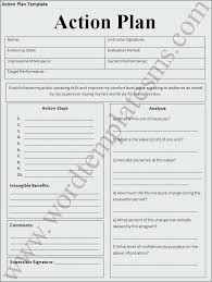 It Sales Action Plan Template Word Inspiring Sample With Goals And