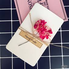 Homemade Greeting Card Design Us 1 06 Wishes Cards Supplies Design Simple Greeting Cards Diy Beauty Faddish Trend Craft Cards 2018 Hot Original In Paper Envelopes From Education