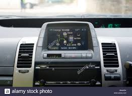 Energy distribution screen on the dashboard of a Toyota prius ...