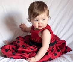Cute Baby Girl In Red Frock Hd ...