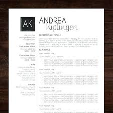 Professional Modern Ms Office Word Resume Template Clean Minimal ...