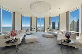 Lakeshore Room Design For Sale Streeterville Penthouse With Rotating Living Room