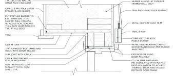 Exterior door jamb detail Construction Exterior Door Drip Cap Exterior Door Jamb Double Stud Wall Door Head With Furring Exterior Door Alex Wessely Exterior Door Drip Cap Hofsgrundinfo