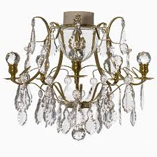 gustavian bathroom chandelier in polished brass with 5 arms and crystal 404206238