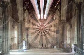 england winchester 10 april 2016 the great hall winchester castle hampshire zoom burst atmospheric 13th century hall featuring a meval round table