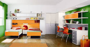 amazing kids bedroom ideas calm. Unusual Shared Kids Bedroom Design Displaying Calming Green White Accent Wall Colors Schemes With Double Beds And Finish Solid Wood Bookshelves Built Amazing Ideas Calm