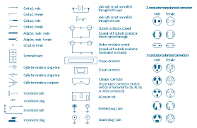 design elements terminals and connectors Male Plug Diagram terminal and connector symbols, terminal board, terminal strip, small, d connector, 110 male plug wiring diagram